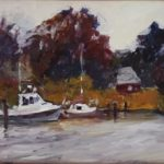 Docking on the Chesapeake 9 x 12 sold