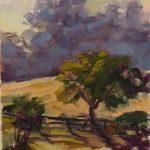 Fruit Tree in Morning Light 8 x 6 sold