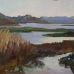 Marsh at Autumns Noon 8 x 12 sold