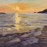 Sun Setting at Shell Beach 12 x 16