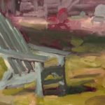 Adirondack Chair on the Lawn 6 x 8 sold