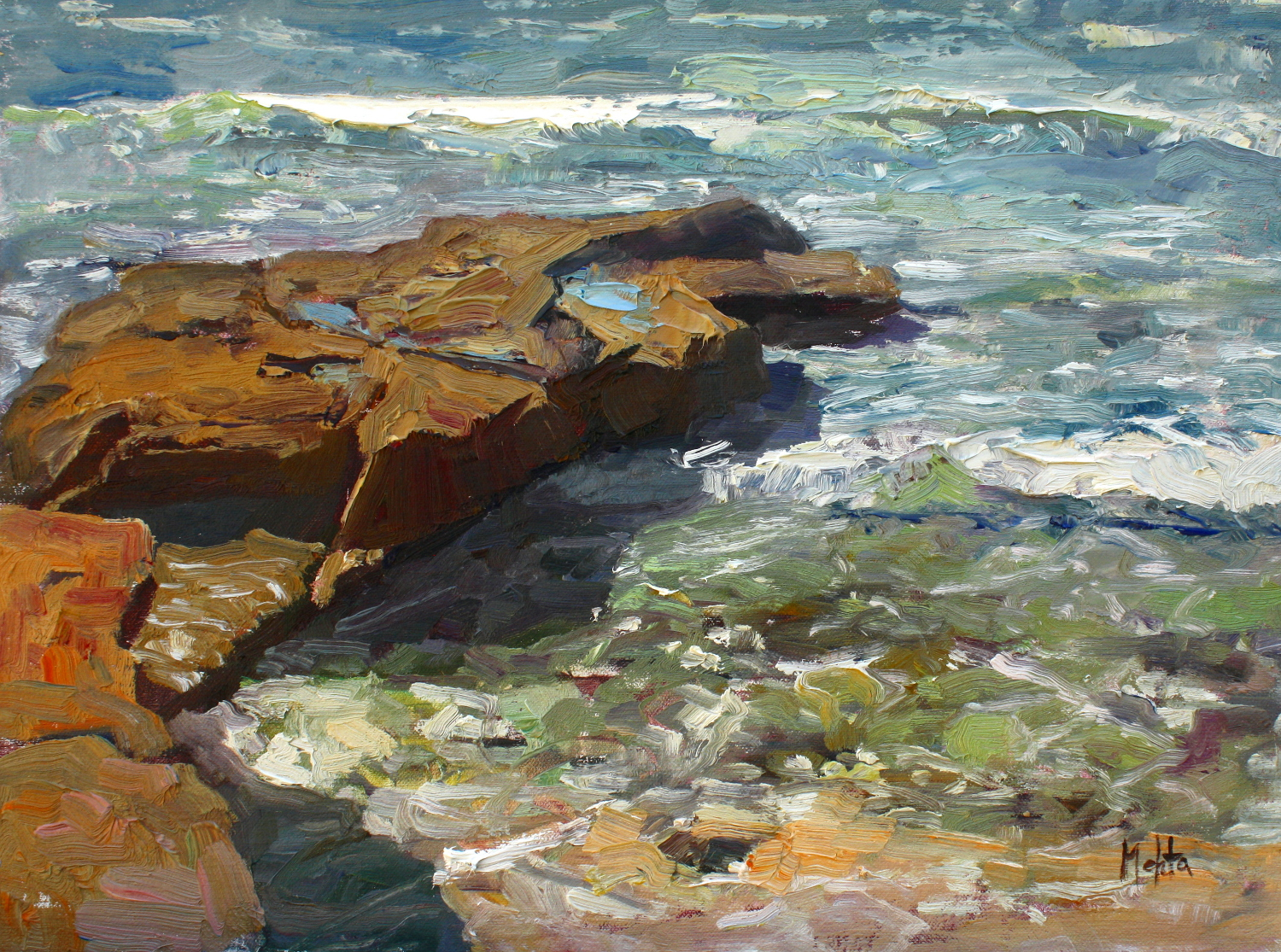 Rocks and Reef 12x16