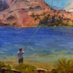 Neel Fishing 24 x 24